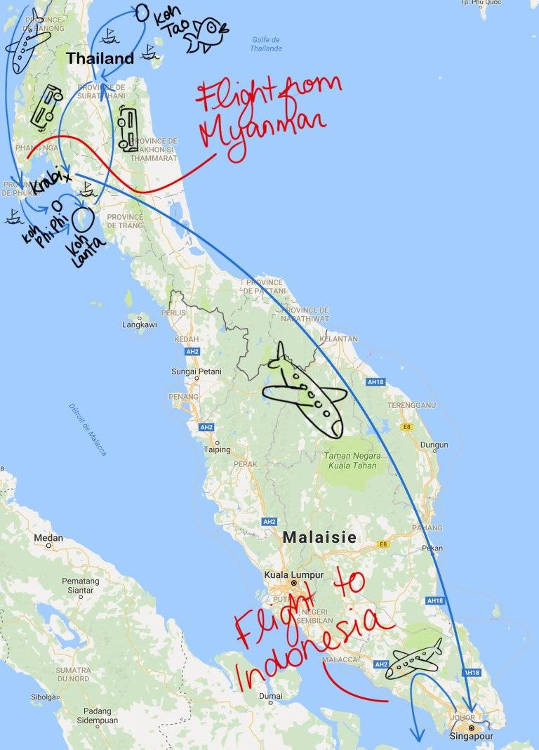 MAPS Sud Thailande